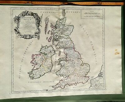 OLD AND LARGE MAP OF GREAT BRITAIN, IRELAND, WALES, SCOTLAND - original 1778
