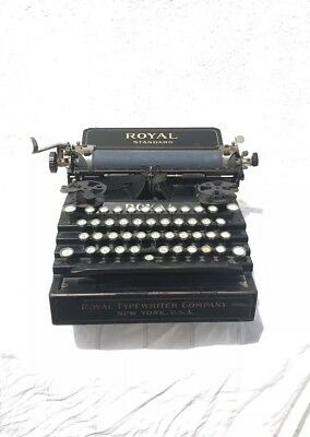 Royal Standard No. 1 Black Flatbed Typewriter- Antique 1900's