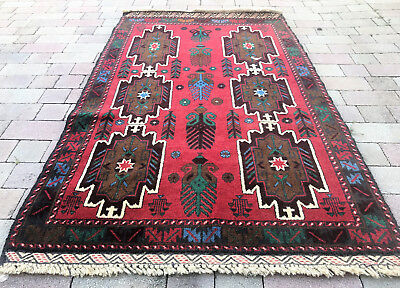Vintage Persian QASHGHAI 3'X5' Handknotted 100% Wool Pile Rug DS-803