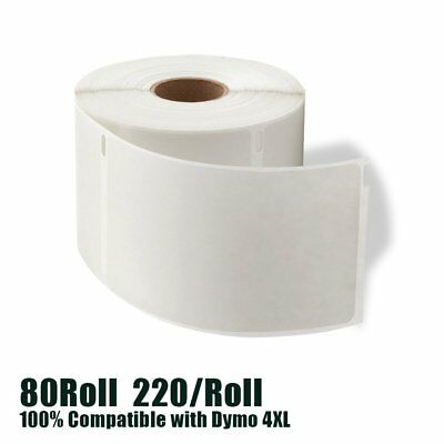 80 Rolls 4X6 1744907 Direct Thermal Shipping Label Compatible Dymo 4XL Wholesale