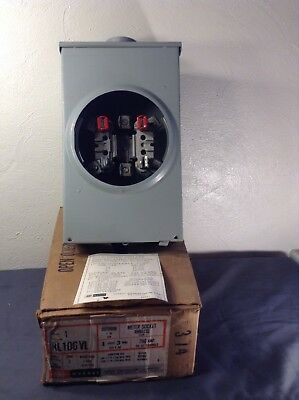 ~ New Murray Electrical Meter Base RL106V3 200 Amp 1 Phase 3 Wire 300V In Box