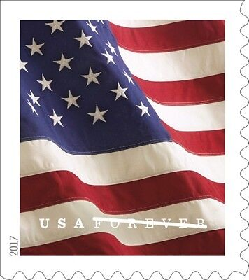 10 USA Forever Flag Stamps NEW USPS Self-Stick Postage FREE Shipping