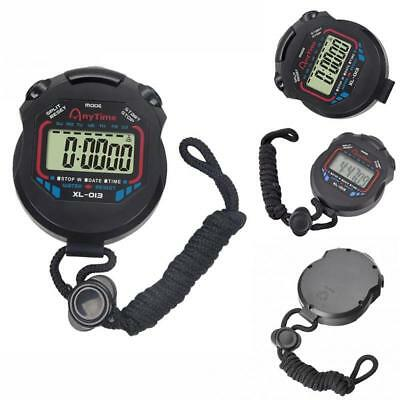 Digital Handheld Sports Stopwatch Clock Alarm Counter Timer Stop Watch Date Time