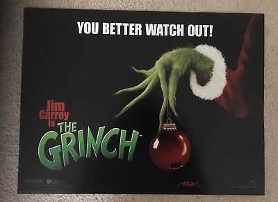 The Grinch Cinema Small Quad Poster