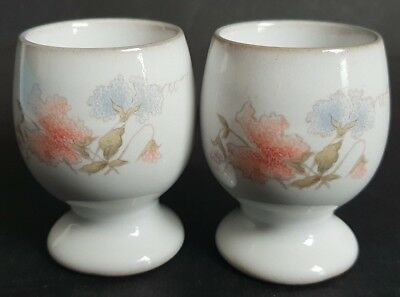 Vintage Denby 'Dauphine' Egg Cups x 2  Designed by Thelma Hague in1982.