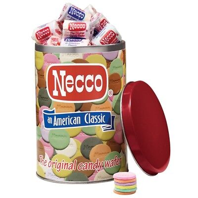 Necco Wafers Collectible Tin FILLED with Necco Wafers Candy New and Sealed
