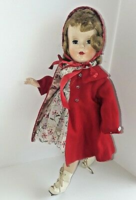 "Vintage 14-15"" A.C. American Character Sweet Sue Hard Plastic Walker  Doll"