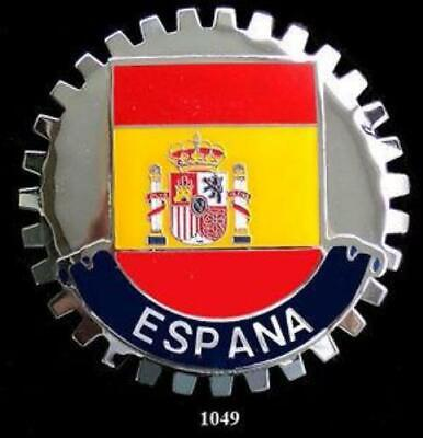 Espana Spain Flag Automobile Grille Badge Spanish Emblem