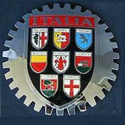 Italia Coat Of Arms Car Grille Badge Emblem