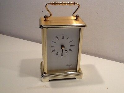 Vintage Robert Grant of London Brass Carriage Clock,Quartz Battery Operated