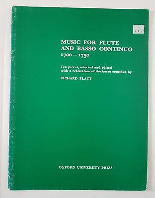 Richard Platt: Music for Flute and Basso Continuo 1700 -1750 (Music Book)