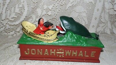 Cast Iron Mechanical Jonah And The Whale Bank
