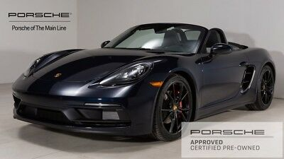2018 Boxster GTS 2018 Porsche 718 Boxster GTS 7,246 Miles Night Blue Metallic 2D Convertible 2.5L