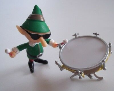 DRUMMER ELF WITH DRUM Plastic Figure Island Misfit Toy Rudolph PLAYING MANTIS