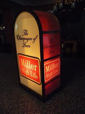 Vintage MILLER HIGH LIFE  Electric Lighted Sign Old Bar Store Display Rare Beer