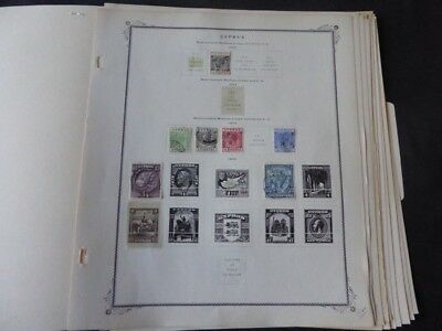 Cyprus 1880-1969 Stamp Collection on Scott Specialty Album Pages