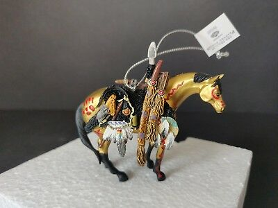 "2006 Trail of Painted Ponies ""Medicine Horse"" Christmas Ornament #12329 red box"