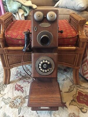 Bell System Americana Edition Circa 1882 Western Electric Wood Wall Telephone