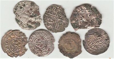 (LOT of 7)  MEDIEVAL COIN'S  900-1600's  SILVER, COPPER and BILLON FREE SHIPPING