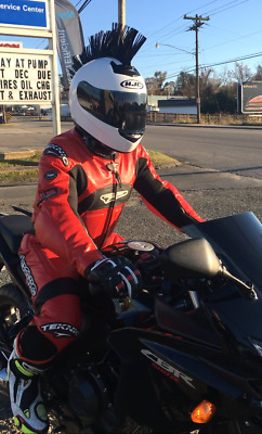 Teknic One Piece Leather Motorcycle Racing Suit Size 42