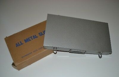 Vintage LOGAN All Metal Sequence Group Slide Files #1500G Holds 200 Or 215