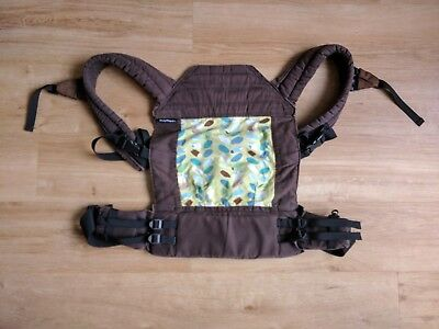 BabyHawk Oh Snap Baby Carrier Sling - Brown with Green leaves - Good condition