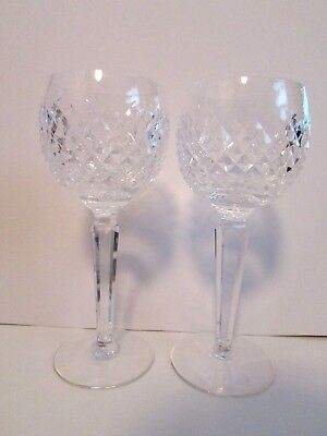 Waterford Crystal Alana Wine Hock Goblets-Set of 2