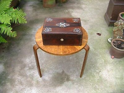 Beautiful Antique Victorian Mother of Pearl Rosewood Writing Slope
