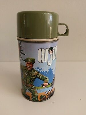GI JOE Vintage 1967 Metal Thermos Bottle For Lunch Box VGC