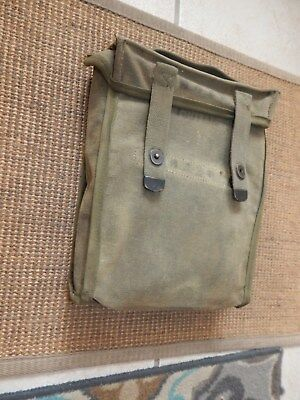 Wwii Original Us Army Canvas Military Dispatch Mail Bag