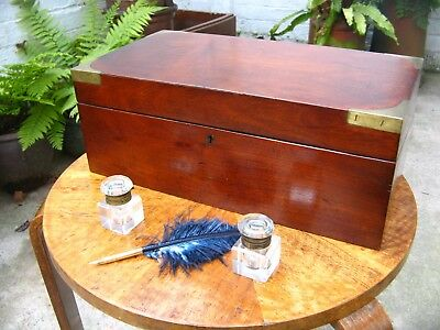 Beautiful Antique Victorian Rosewood and Brass Writing Slope