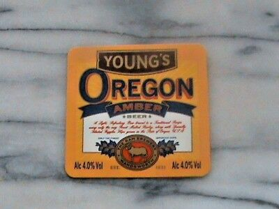 Young's Oregon Amber real ale beer pump clip sign
