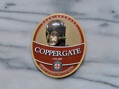 York Coppergate real ale beer pump clip sign