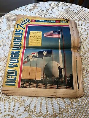 Vintage Sunday Mirror Magazine Section April 30, 1939.  New York Worlds Fair