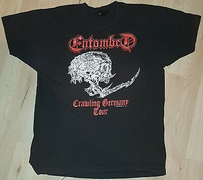 Entombed Crawling Germany Tour 1991 T-Shirt Vintage Death Metal