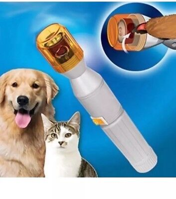 Pedi Paws Nail Trimmer Grinder Grooming Tool Care Clipper Pet Dog Cat Supply