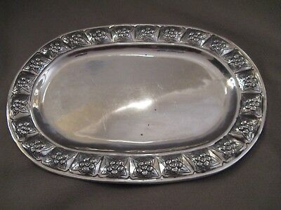 Sanborn Aztec Rose Vintage Mexican Sterling Silver Tray