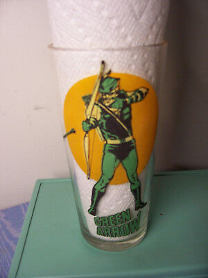 Vintage 1976 Pepsi Super Series Green Arrow Glass