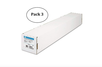 "HP C1860A Designjet Bright White Inkjet Paper, 4.7 mil, 24"" x 150 ft, 3-Pack"
