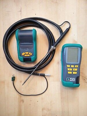 Kane 400 Combustion Gas Analyser,Infra Red Printer and Accessories bag