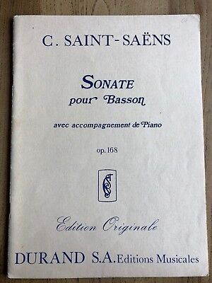 Saint-Saens - Sonata for Bassoon, Op. 168 (Durand S.A. Editions Musicales)