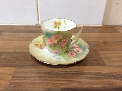 Doulton Burslem Tiny Fragile Cup And Saucer With Roses