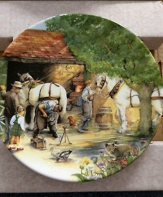 Royal Doulton Plate : OLD COUNTRY CRAFTS : The Blacksmith : Box and Certificate