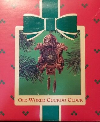 Hallmark Christmas Ornament OLD WORLD CUCKOO CLOCK 1984 german wall