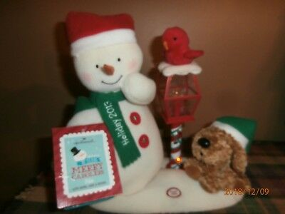 Hallmark Jingle Pals 2013 Merry Carolers Trio Animated Snowman,Dog,Bird & TAG
