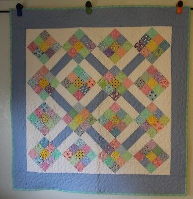 "Handmade Quilt, Machine Quilted,41"" x 42"" Child,Youth,Toddler,Blanket,Colors4you"