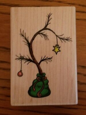 It's A Christmas Tree Rubber Stamp~Used~Stampabilities