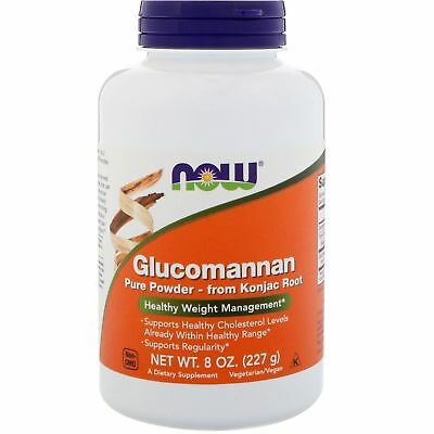 Now Foods Glucomannan Pure Powder 227g Konjac Root Healthy Weight Management