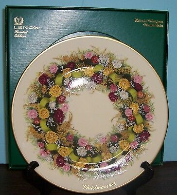 Lenox 1985 Colonial Christmas Wreath Plate With Gift Box Connecticut Never Used