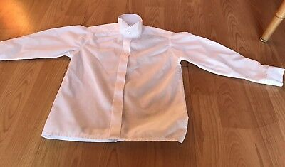 "Boys Wing Collar - White - Dress Shirt - 11.5"" Collar Size"